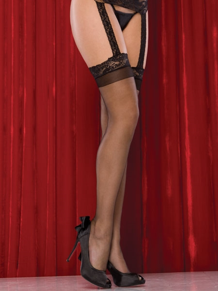 Stockings and garter belt from Coquette