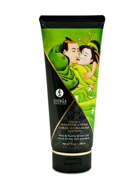 Pear and Exotic Green Tea Massage Cream by Shunga