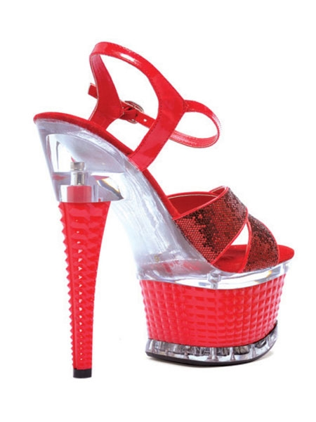 6'' Crossed Strap Textured Disco Platform