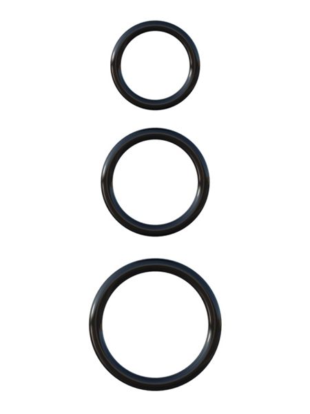 C-Ringz Silicone 3-Ring Stamina Set Black