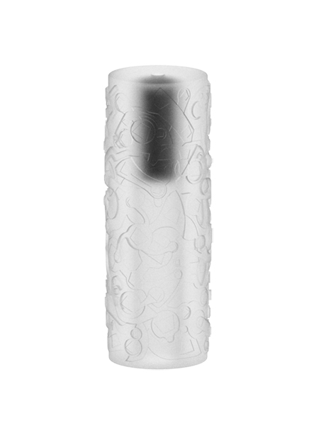 White Vertical Attack vibrating masturbation sleeve by ML Creation