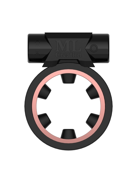 Black Magic Vibrating Cockring by ML Creation