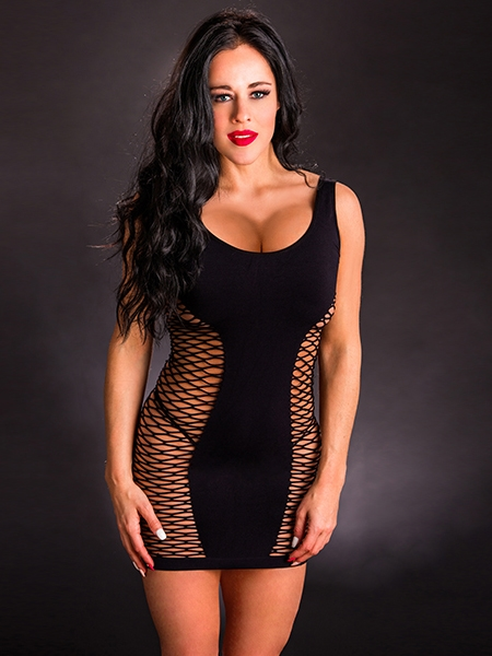 Tank dress with fishnet by Beverly Hills Naughty Girl