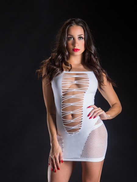 Mesh and Wild String Dress by Bevery Hills Naughty Girl