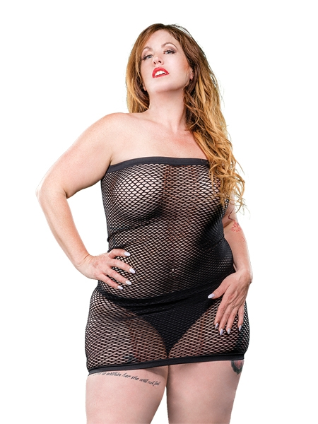 Queen Size Mesh Tube Dress by Beverly Hills Naughty Girl