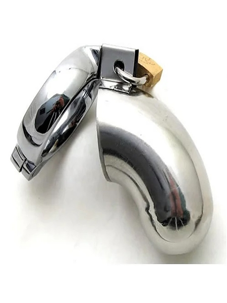 45mm Stainless Steel Chastity Cock Cage by Ego