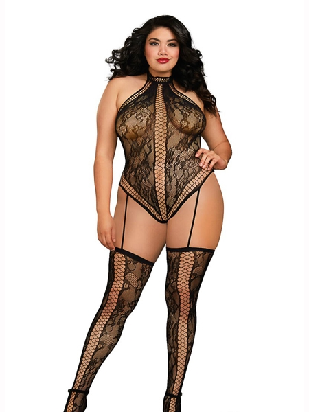 Lace an fisnet bodystocking by Dreamgirl